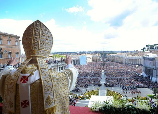 Pope Francis in Vatican city