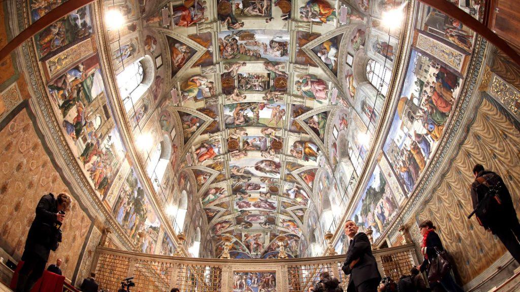 Frescoes in the Sistine Chapel