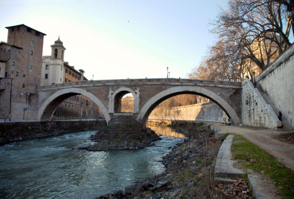 Fabricius Bridge in Rome