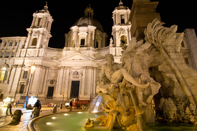 A night out in Rome