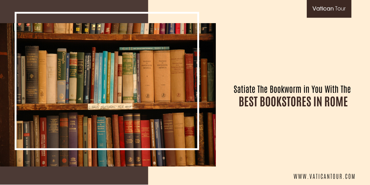 bookcase in rome bookshop