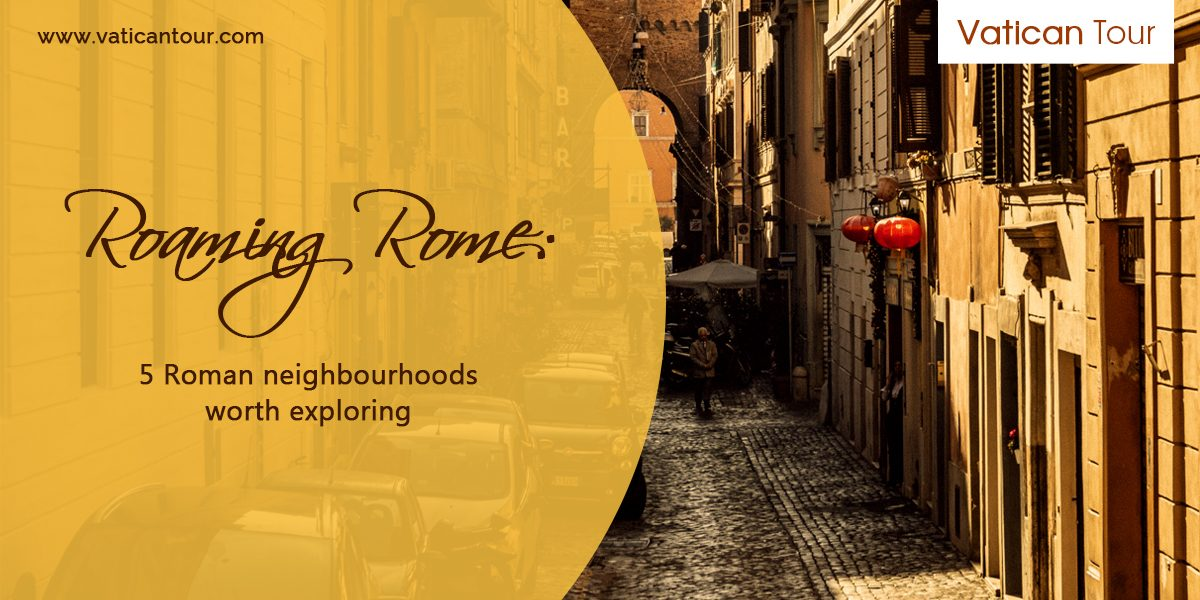 Classic Roman Neighbourhood with cobble stone streets